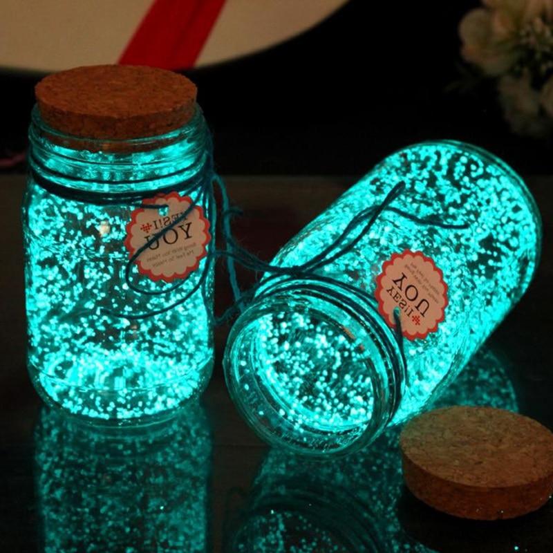 30g Luminous Sand Stones Garden Park Road Pebbles Glow In Dark Ornaments For Party Aquariums Fish Tank Decoration Stone Ornament
