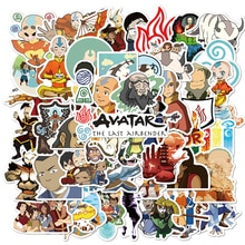 50PCS Avatar The Last Airbender Stickers for Children Pegatina DIY Stationery PS4 Skateboard Laptop Guitar Anime Sticker
