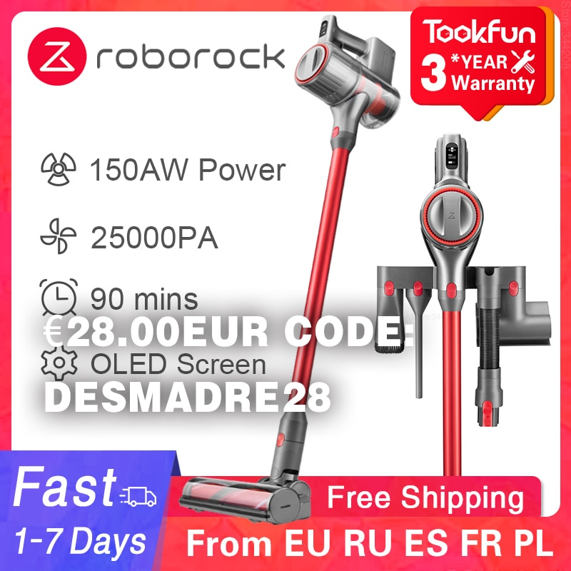 NEW Roborock H6 Handheld Vacuum Cleaner Home Wireless Sweep 25000Pa cyclone Suction Multi functional Brush Dust Catcher