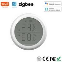 Tuya Zigbee     capteur dhumidite et de temperature  pour maison intelligente  fonctionne avec Alexa et Google Assistant