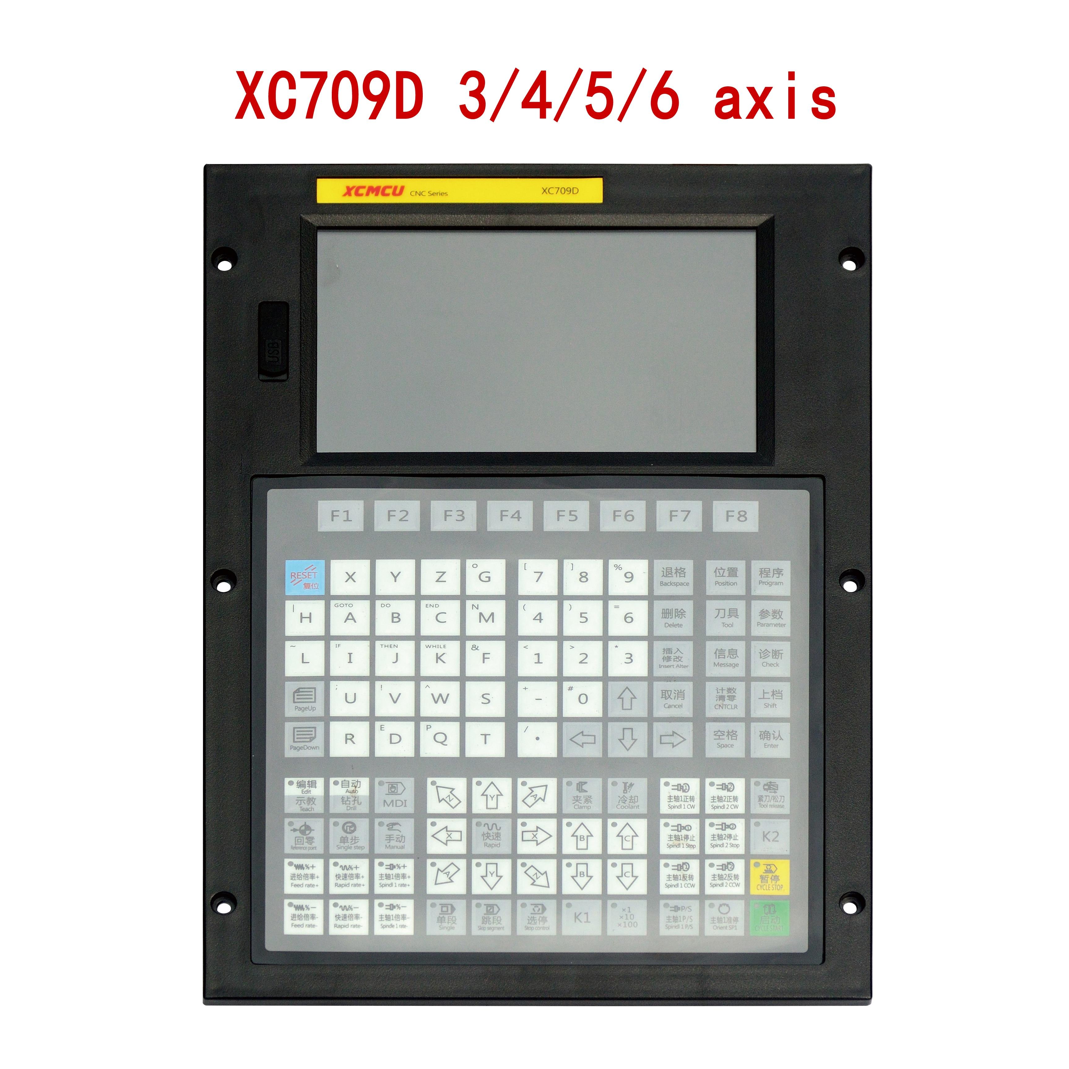 XC709D 3/4/5/6 محور أوسب نك نظام التحكم فانوك G-كود دعم حاليا طحن مملة التنصت على تغذية الحفر