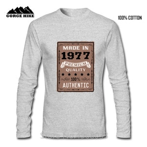 Retro Style Born In 1977 T Shirt Men Cotton Short Sleeve Limited Edition O-neck 42th T-shirt Birthday Gift Tshirt Top Tee shirts