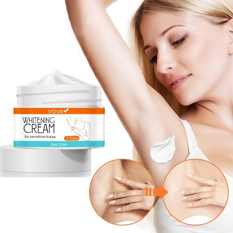 Whitening Cream Bleaching Face Body Lightening Cream Underarm Armpit Whitening Moisturizing Cream Legs Knees Body White Cream