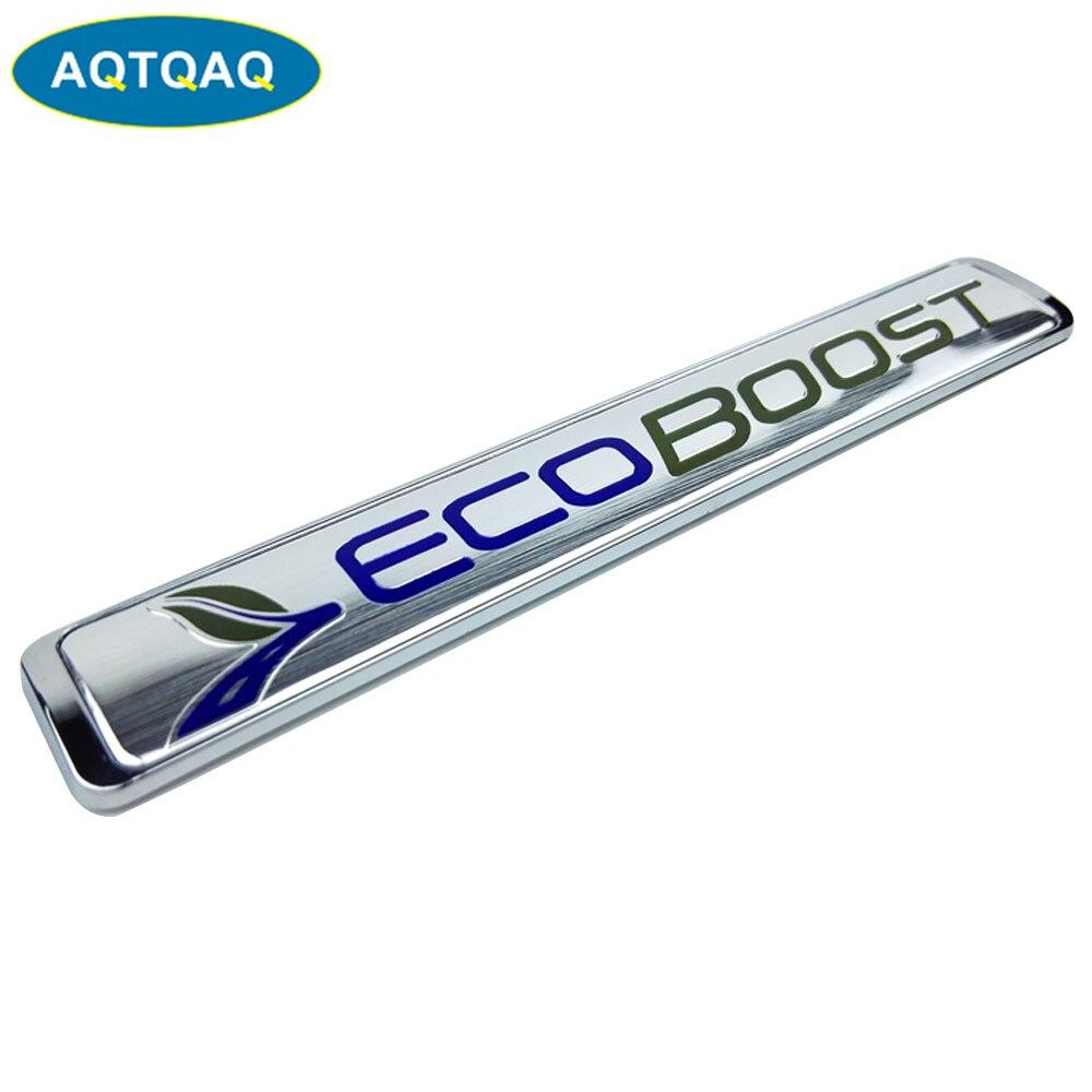 3D Metal Ecoboost coche SUV camión lado guardabarros trasero emblema insignia calcomanías para Ford S-MAX Ecoboost motor