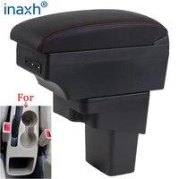 for hyundai solaris armrest 2013 2014 2015 2016 car armrest box retrofit parts storage box car accessories interior with usb led