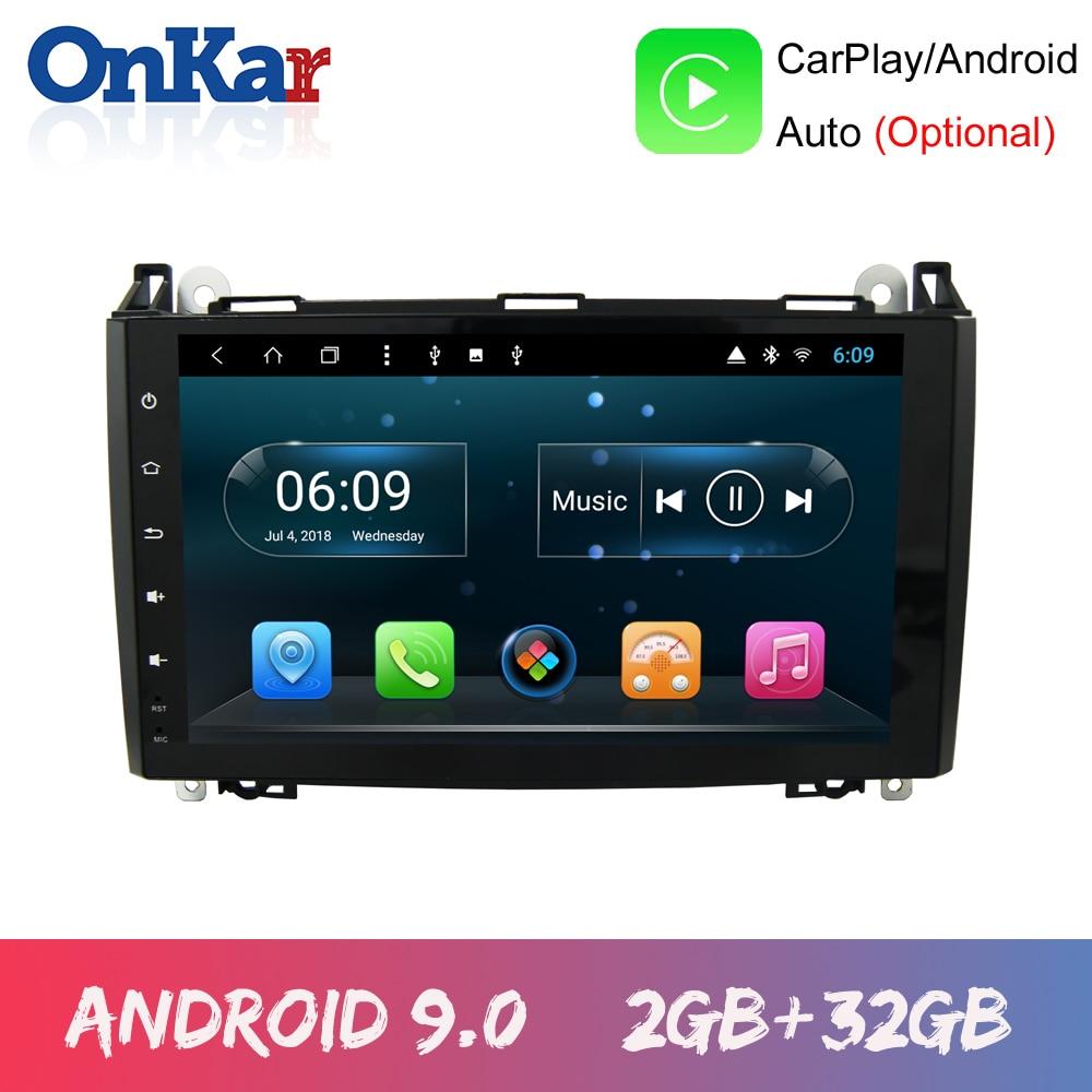 Unidad Principal onkardin 2 Radio GPS para Mercedes Benz B200/b-class W245 B170 W169 Android 9,0 sin reproductor de DVD Bluetoth Wifi FM CarPlay