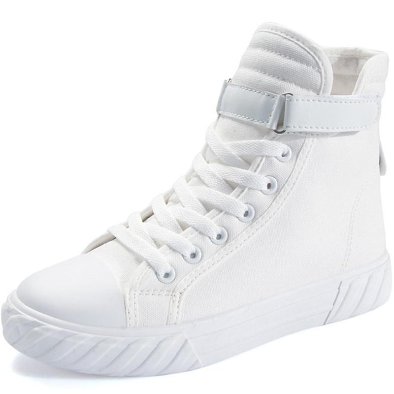 Sapatos casuais femininos brancos jeans, cesta sem salto alto para corrida