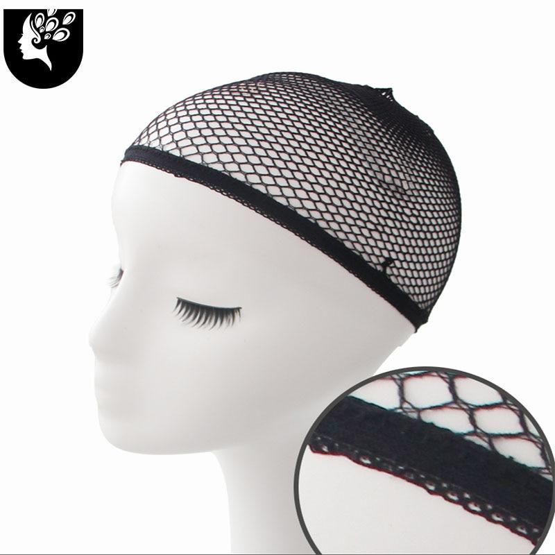 YOUR BEAUTY Beauty Wish Wig 1Pcs-5Pcs New Stretchable Elastic Hair Nets Snood Wig Cap Cool Mesh Cosplay Black Color FishHairnet