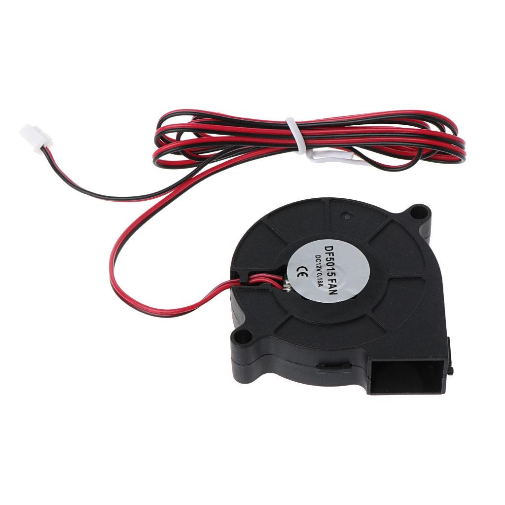1Pc DC 12V 50mm Blow Radial Cooling Fan Hotend Extruder For RepRap 3D Printer Accessories Cooler Fans