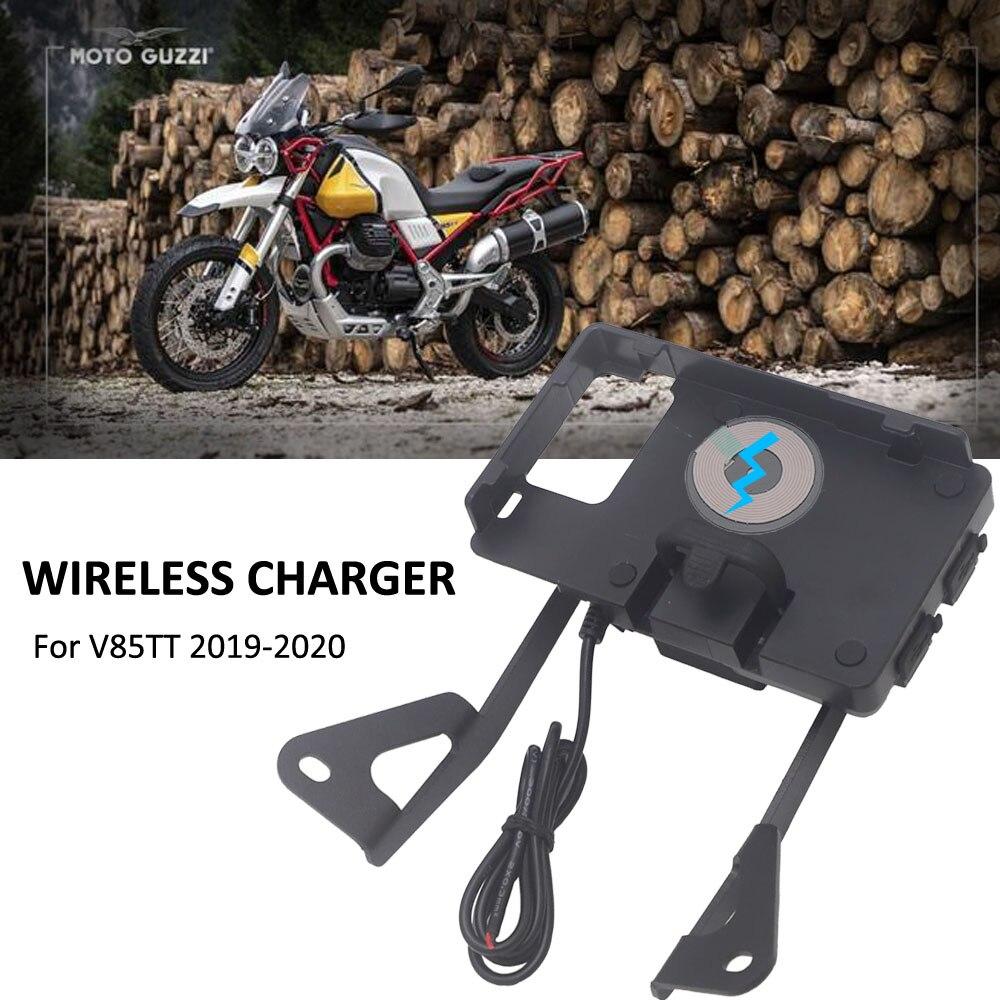 حامل هاتف خلوي لاسلكي للدراجات النارية ، حامل ملاحة لاسلكي للدراجات النارية ، شاحن USB ، مناسب لـ MOTO guzy V85 TT V85TT