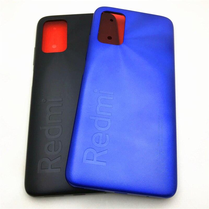 10 قطعة/الوحدة ل شاومي Redmi نوت 9 4 جرام غطاء البطارية اللوحة الخلفية الإسكان الغطاء الخلفي مع حجم الطاقة زر إصلاح أجزاء