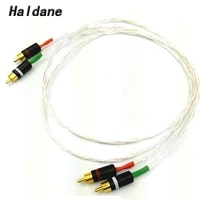 haldane 8ag single crystal silver audio cable hifi rca interconnect cable with gold plated rca plug for amplifier cd player