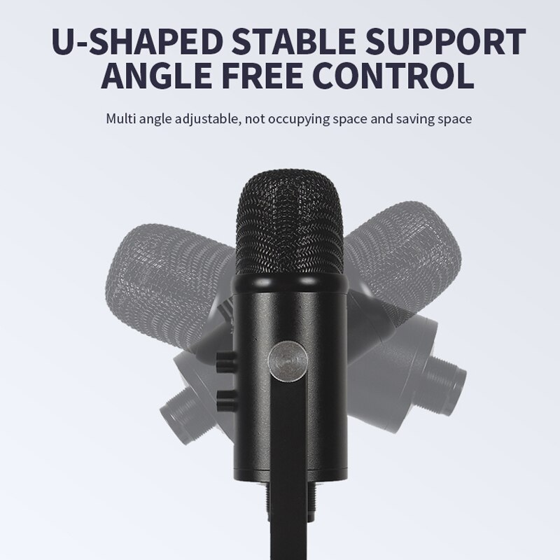 USB Condenser Microphone with Adjustable Arm Stand Mount for Computer Laptop PC Karaoke iPhone Studio Recording YouTube enlarge