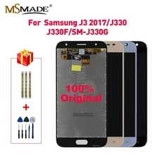 LCD Original para Samsung Galaxy J3 2017 LCD Touch pantalla digitalizador montaje brillo Control para J3 Pro J330F J330 LCD