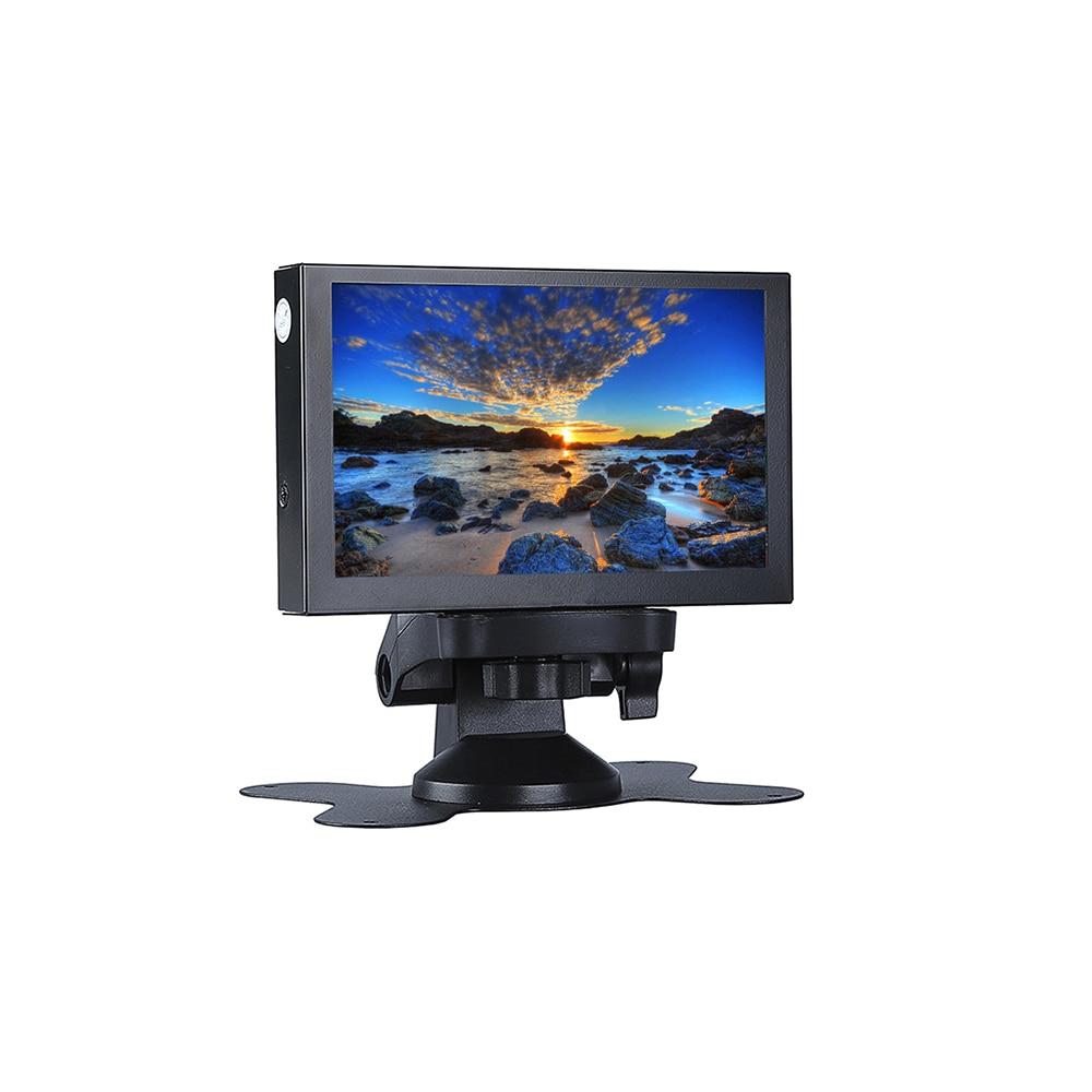 Mini 5inch Monitor LCD display Screen 800 * 480 169 5CH VGA BNC AV HD Ypbpr Five-channel Input for DVR, DVD, PC