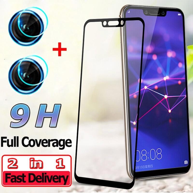 2 en 1 protector pantalla para Huawei Mate 20 Pro 20 Lite cristal templado para Huawei Honor 9X Camara lente Honor 9 X vidrio templado Mate 20Pro screen protector Huawei Mate 20 Protector de pantalla Mate 20 lite glass
