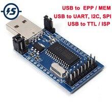 Programador CH341A convertidor USB a UART/IIC/SPI convertidor de puerto paralelo a bordo UART y SPI/I2C lámpara indicadora de funcionamiento