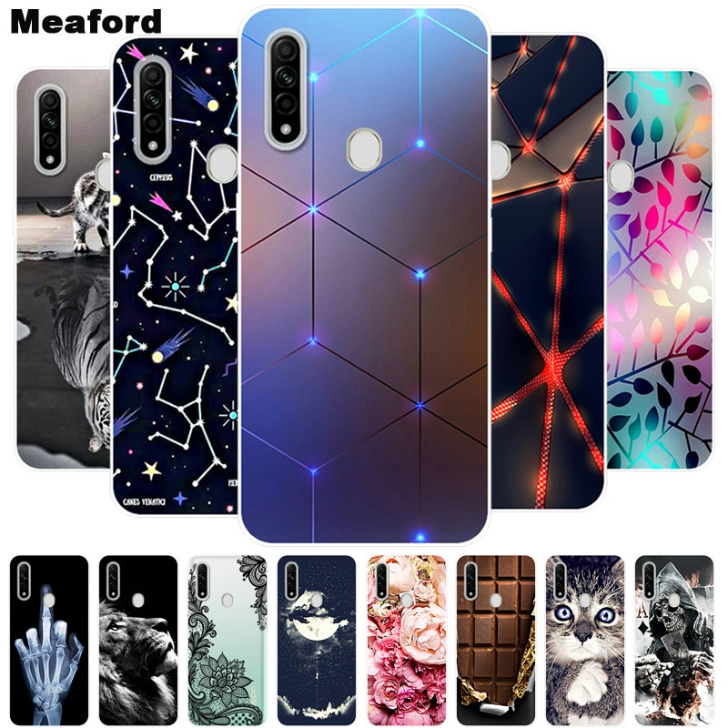 For OPPO A31 2020 Case Shockproof Soft silicone TPU Back Cover For Oppo A31 A 31 2020 Phone Cases Op