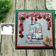 Noël lanterne pendentif métal matrices de découpe pour Scrapbooking acier artisanat découpé gaufrage papier carte Album pochoir