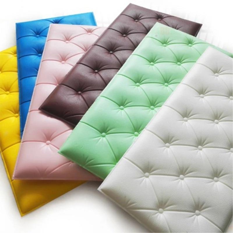 Soft Cushion Tatami Wallpaper 3D Self-adhesive Wall Sticker Thicken Tatami Anti-collision Mat Children's Bedroom Bed