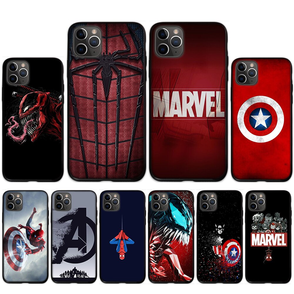 Marvel Comics с рисунком Venom роскошный клиент телефон Coqa для iPhone 11 pro XS MAX 8 7 6 6S Plus X 5 5S SE XR