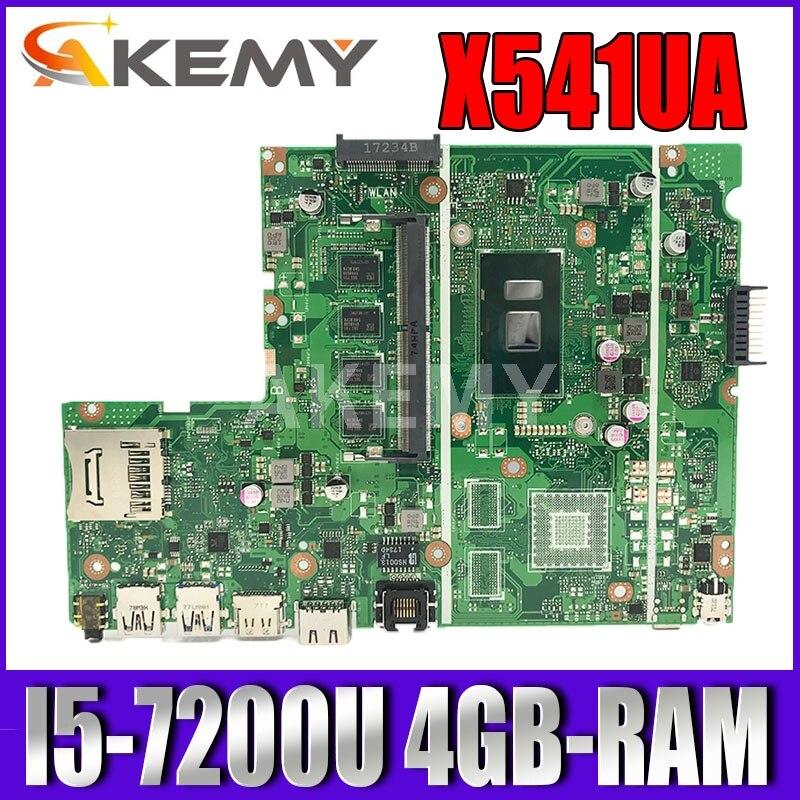 جديد X541UAK W/ I5-7200U CPU 4GB-RAM اللوحة ل ASUS X541U X541UA X541UAK X541UVK X541UV X541UJ laptop mainboard اختبار
