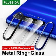 Sprawa dla Huawei Honor 20 Pro Honor20 skrzynki pokrywa szklana kamera osłona obiektywu dla Huawei Nova 5T Nova5T ochronna zderzak