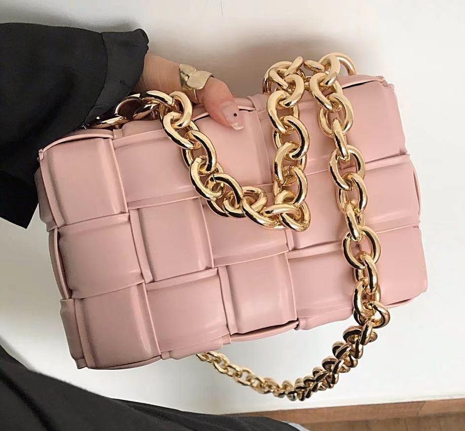 Chain PU Leather Messenger Bag Luxury Women Bag Designer Female Trend Plaid Shoulder Bag Lady Purse and Handbag