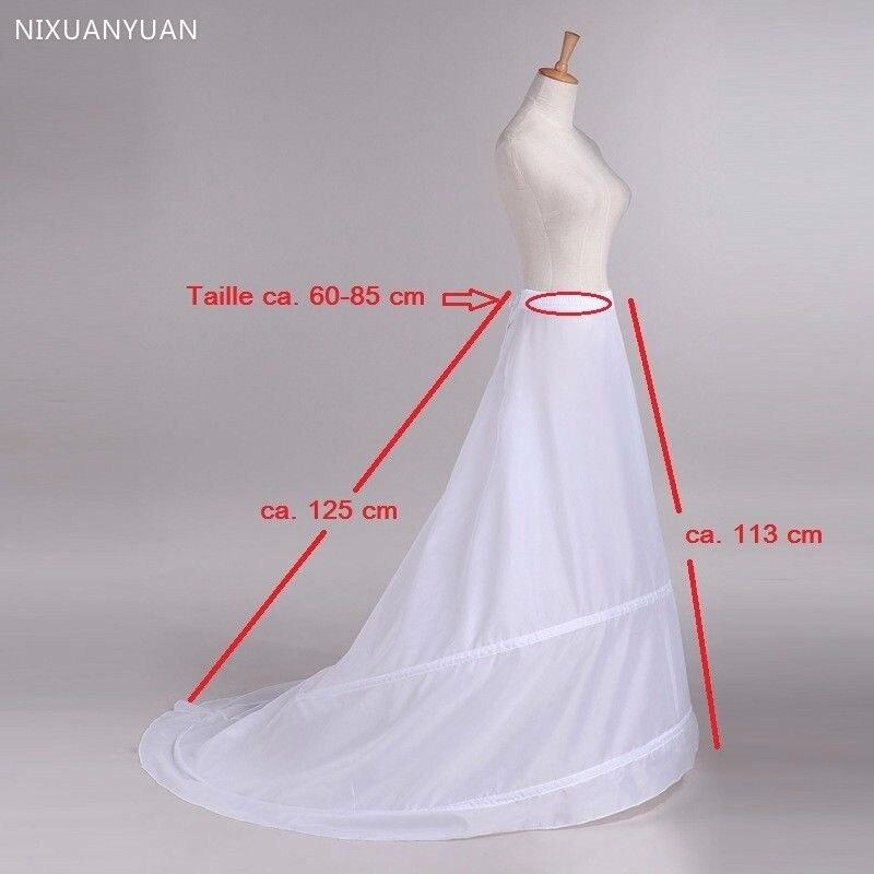 Venda por atacado trem hoop saia novo 2 anéis vestido de casamento branco underskirt petticoat