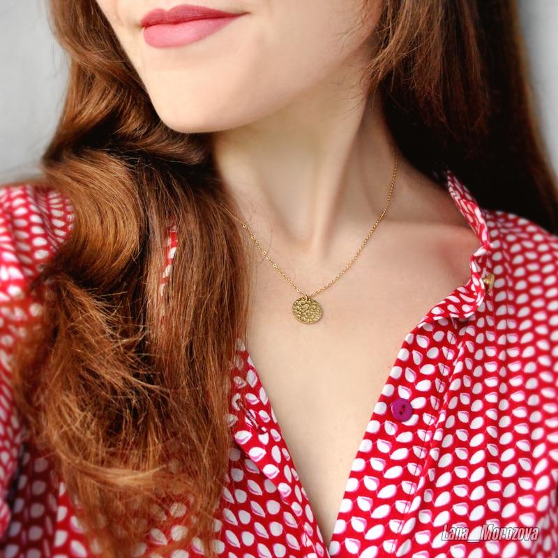 Nombre personalizado DIY moda Acero inoxidable collar señoras collar largo colgante redondo joyería señoras moda collares cortos 2019