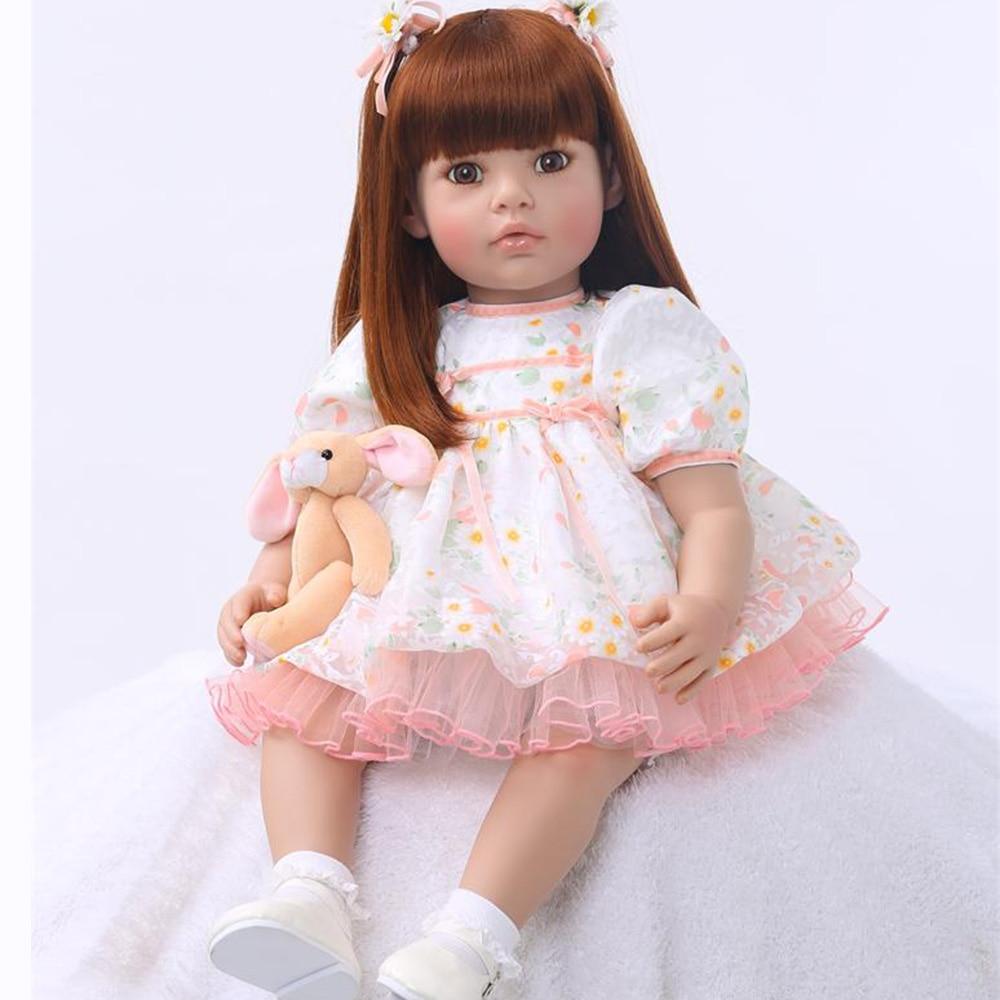 24 pulgadas muñeca Reborn niña 60 cm suave vinilo tela cuerpo Noble princesa niño muñeca realista Boneca bebé Reborn Playmate l. o. l