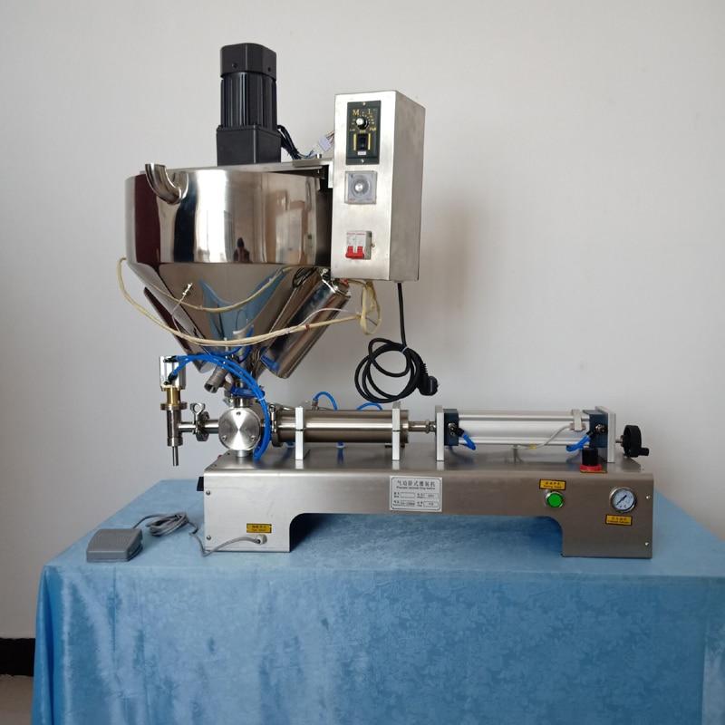 Pegar máquina de llenado de líquido de mantequilla de maní cariño emulsión crema calefacción agitar tipo de máquina de llenado