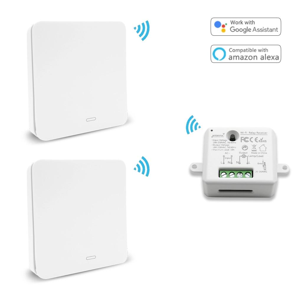 Tuya WiFi Switch Socket Module with Kinetic Self Powered Wireless Switch App Timer Support Google Home Alexa Smart Automation