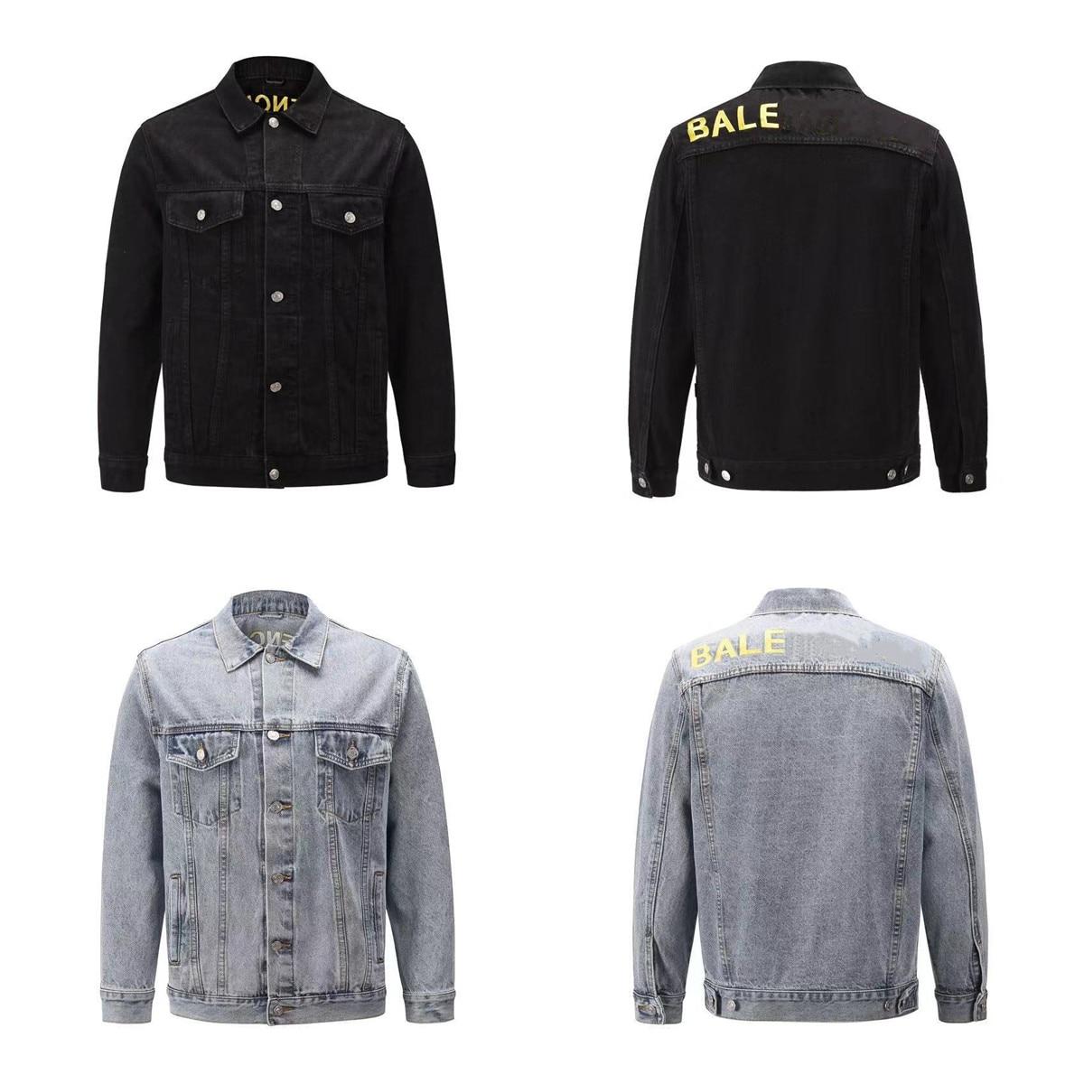 2021 Paris Spring and summer Fashion Hip Hop Denim Jacket Male Cowboy Ripped Hole European Size S~XL 64
