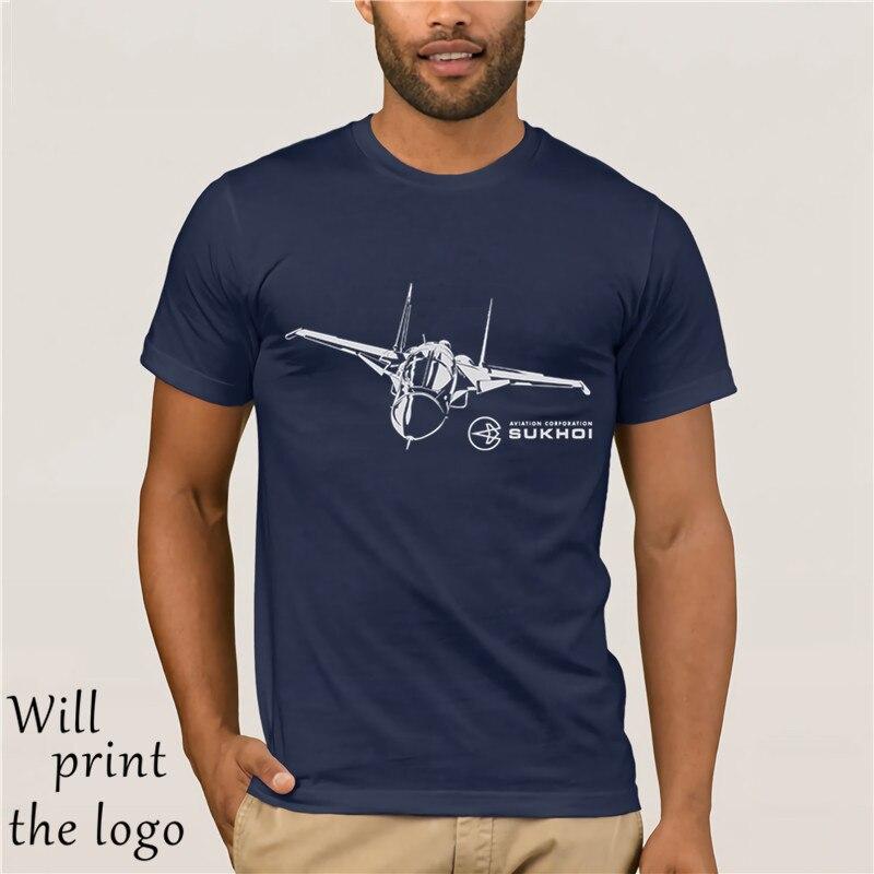Sukhoi Su-34 syrien russo avião bombardeiro fazer camisetas camisa de algodão dos homens da família do verão
