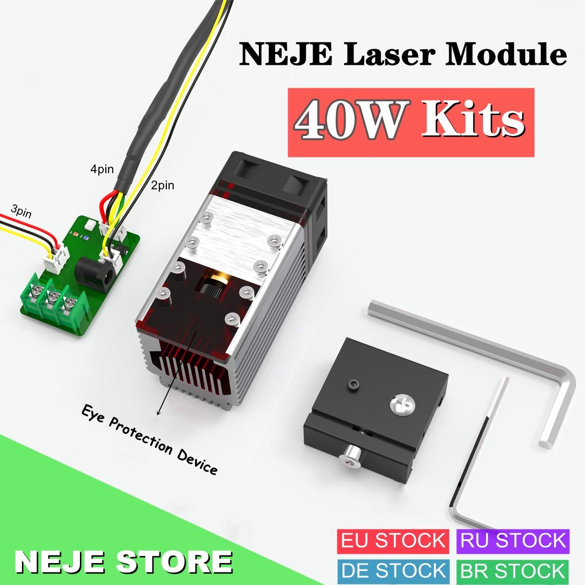 NEJE N40630 40 واط وحدة الليزر رئيس عدة TTL 450nm الضوء الأزرق ل المهنية نك الليزر حفارة الخشب قطع آلة الحفر
