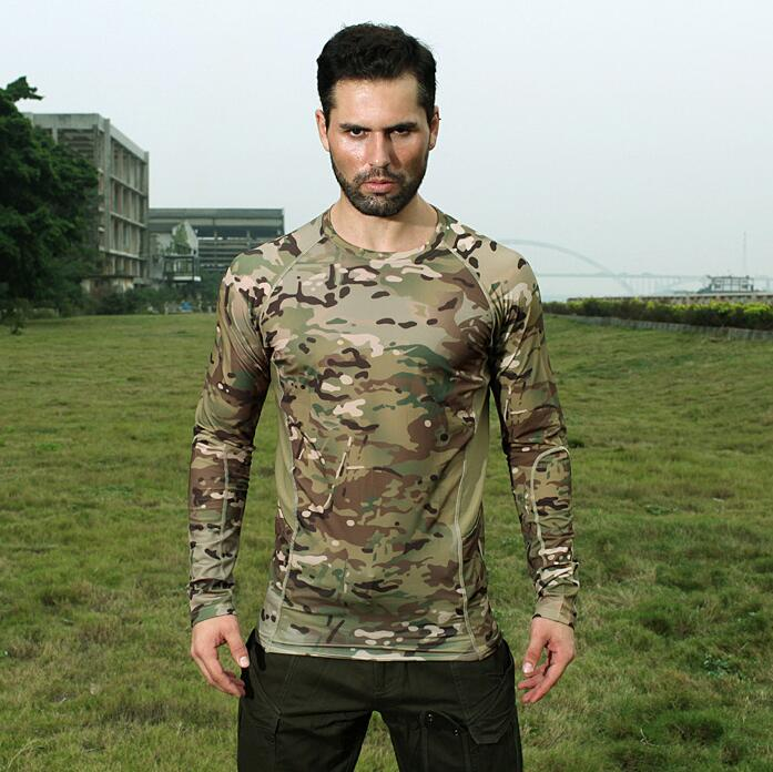 Warchief Elastic Quick Dry Summer Long Sleeve Shirt Top Men Outdoor Multicam Black Tropic Arid Shirt(SKU051362)