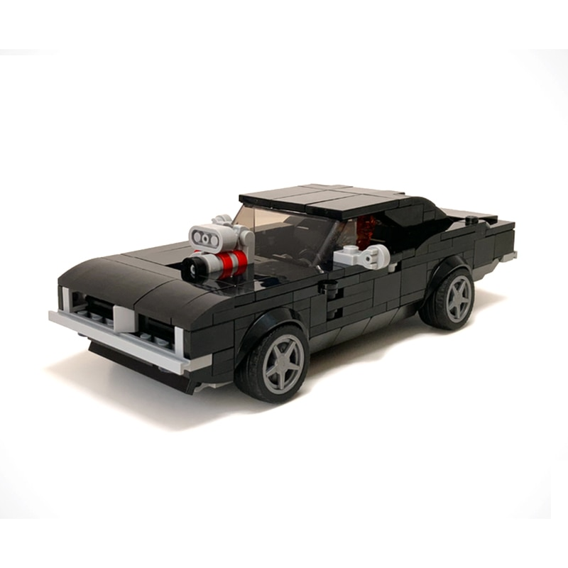 MOC-70377 كيد بناء كتلة لعبة سيارة رياضية الجحيم شاحن المدينة بطل السيارة السوبر الجمعية نموذج لعب الطوب هدية
