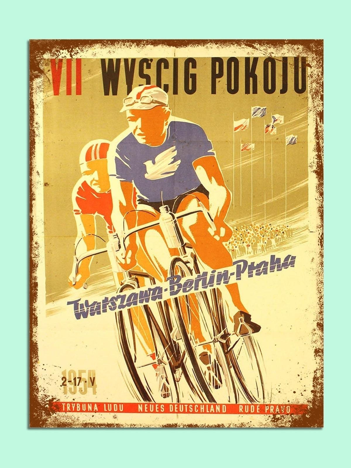 Arte Vintage cartel de pintura de Metal, pegatinas de pared de matrícula...
