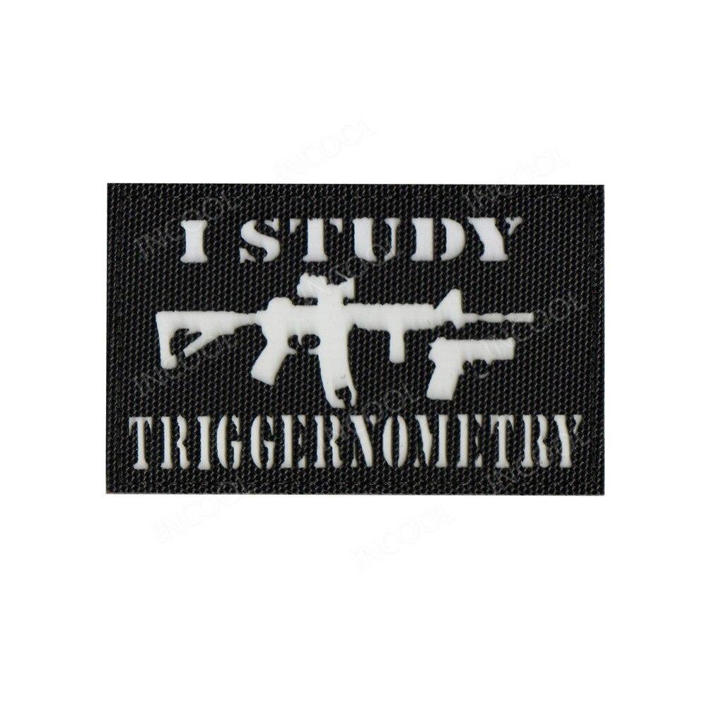 Parches reflectantes I Study, parche infrarrojo IR, emblema táctico militar, apliques, insignias de pistola divertidas para ropa, chaquetas y gorras