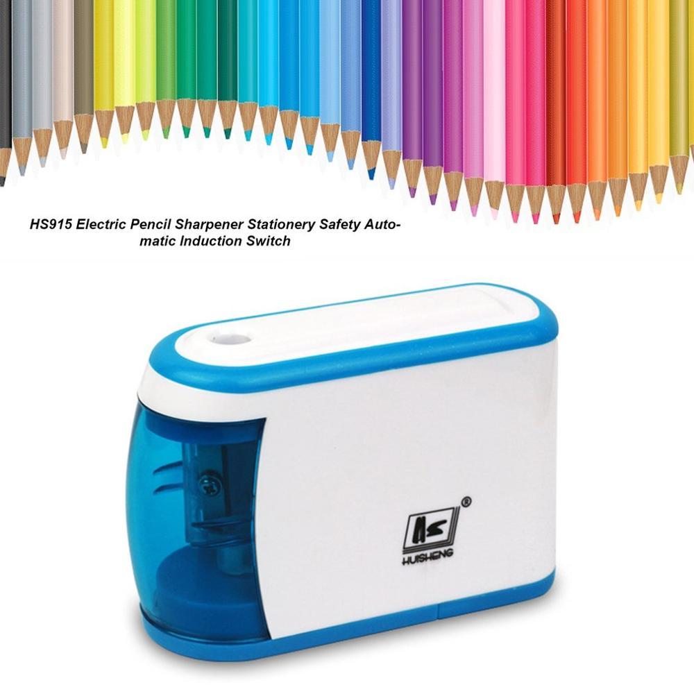 Afilador de lápices eléctrico automático, silencioso, sacapuntas eléctrico, papelería para el hogar,...