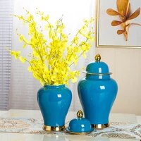 colorful glazed simple creative luxurious table decorative ginger jars