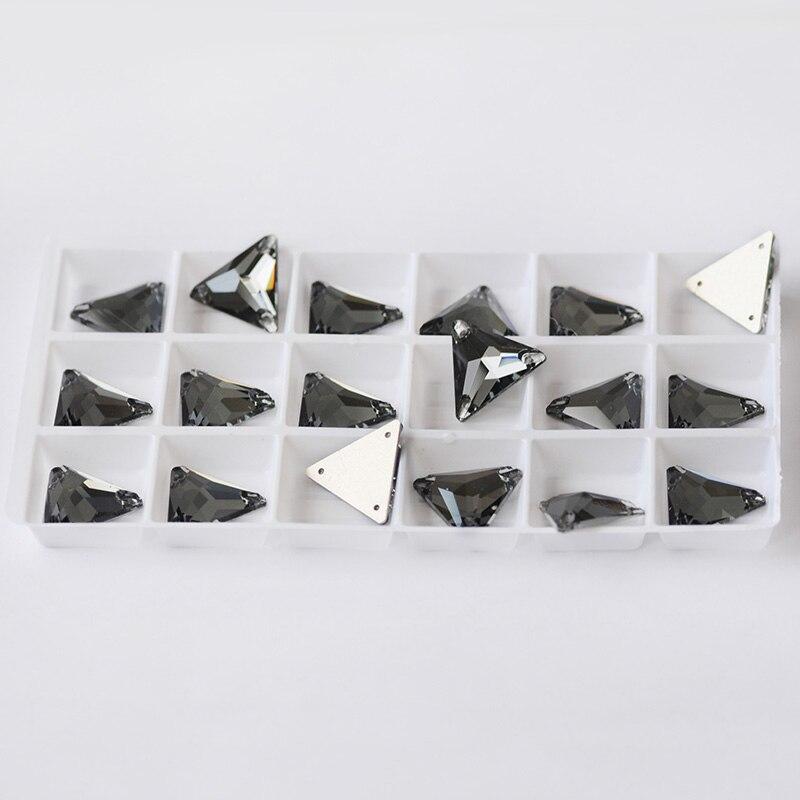 CTPA3bl 3270 K9 de base plana para coser piedras encantador Diamante Negro Color coser en diamantes de imitación para ropa hecho a mano