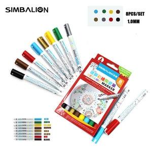 8 Colors/Set Ceramic Art Marker Pen Painting Colored Non Toxic Paint Pens Artist DIY Drawing Supplies