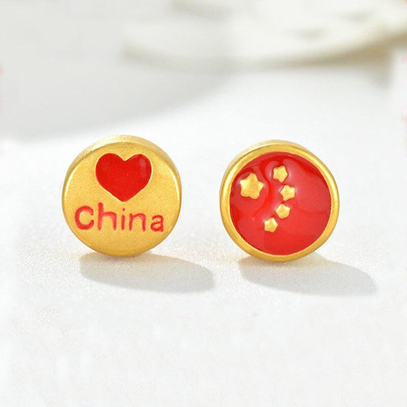 Pure 24K Yellow Gold Bracelet Women 999 Gold China Love Bracelet