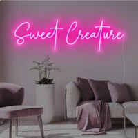 Signe neon personnalise  douce creature  lumiere Led personnalisee pour chambre a coucher  decoration de la maison