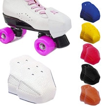 2PCS Ice Skates Leather Toe Cap Protective Cover Ice Skates Toe Guard Protective Cover Outdoor Train