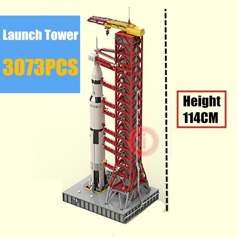 114CM de haut blocs de construction jouets Apollo Saturn No 5 lancement Kit de construction bloc brique utilisation et 21309 seulement la rampe de lancement
