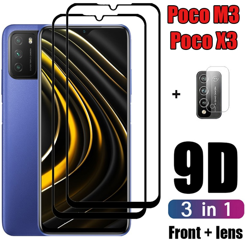 Poko m3 x3 cámara de vidrio Protector para Xiaomi poco m3 de...