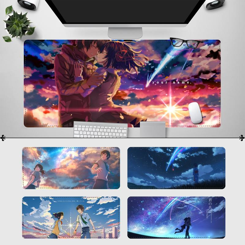 Elegant Animation Movie Your Name Gaming Mouse Pad Gaming MousePad Large Big Mouse Mat Desktop Mat Mice Computer Mouse pad new arrival slim elegant anti slip aluminum alloy computer gaming mouse pad mat mousepad